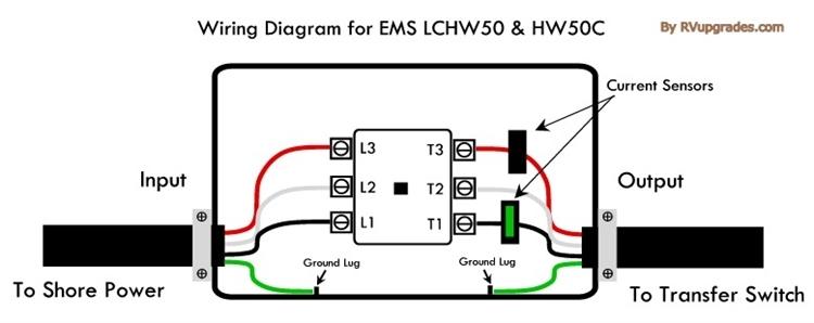 Progressive Industries EMS-LCHW50 Hardwired 50 Amp RV