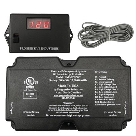 Progressive Industries Ems Hw50c Hardwire Rv Surge