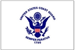 "Flagpole To Go GCF-CG 12"" X 18"" Coast Guard Flag For Golf Cart Flagpole"