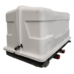 Let's Go Aero HDK802 GearDeck Slideout Cargo Carrier with LED - White - 17'