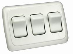 PAK  Contoured On/Off Switches, Triple