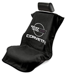 Corvette C4 Seat Armour Black SA100COR4B