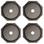 "RV SnapPad Xtra 9"" Permanent RV Jack Pad - LCI Leveling Systems - 4 Pack"