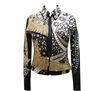 Show Jacket for Western pleasure, Pleasure Jacket, Used show clothing, Used pleasure jacket, Used jacket for western pleasure, Show Jacket with Bling, Jacket with fringe, Used show clothes, show clothes, show clothes with fringe, black based show clothes