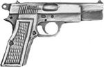 VIEW 9mm Pistol Lapel Pin
