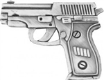 VIEW 9mm Semi-Auto Pistol Lapel Pin