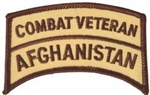 Combat Veteran Afghanistan Patch