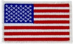 "United States Flag Patch - 3"" - White Border"