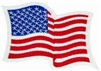 Wavy United States Flag PATCH W/ White Border