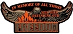 In Memory Of Those Who Died Defending Our Freedom Back Patch