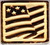 Gilded Gold US Flag Hat Pin (Limited Closeout)