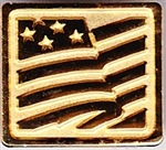 VIEW Gilded US Flag Pin