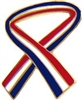 Red-White-Blue Ribbon Pin