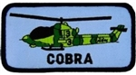 AH-1 Cobra Helicopter Patch