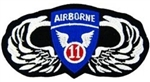 Wings, 11 Airborne Division (11th) Patch