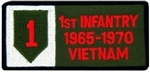 1 Infantry Division 1965-1970 Vietnam (1st) Patch