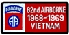 82 Airborne Division 1968-1969 Vietnam (82nd) Patch
