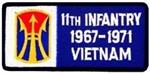 11 Infantry Brigade 1967-1971 Vietnam (11th) Patch