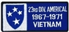 23 Infantry Division Americal 1967-1971 Vietnam (23rd) Patch