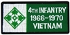4 Infantry Division 1966-1970 Vietnam (4th) Patch