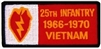 25 Infantry Division 1966-1970 Vietnam (25th) Patch