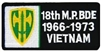 18 Military Police Brigade 1966-1973 Vietnam (18th) Patch