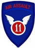 11 Air Assault Division (11th) Patch