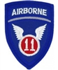 11 Airborne Division (11th) Patch