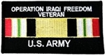 Iraq War Veteran US Army Patch