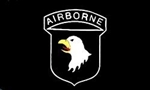 <!000>101st Airborne Division Flag - 3' x 5' - Screen-Printed