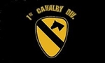1 Cavalry Division (1st) Flag - 3' x 5' - Screen-Printed
