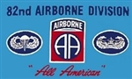 82 Airborne Division (82nd) Flag - 3' x 5' - Screen-Printed