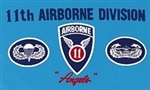 11 Airborne Division (11th) Flag - 3' x 5' - Screen-Printed