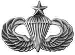 VIEW Senior Parachutist Lapel Pin