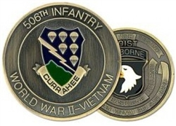 VIEW 506th Infantry Regiment Challenge Coin