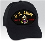 US Army World War II Veteran BALL CAP or PATCH
