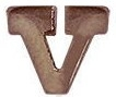 "VIEW Heroism Bronze Letter ""V"" Device"