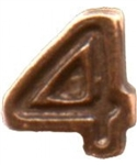 VIEW Numeral 4 Bronze Decoration Device