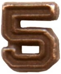 VIEW Numeral 5 Bronze Decoration Device