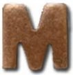 "VIEW Mobilization Bronze Letter ""M"" Device"