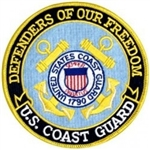 US Coast Guard Defenders Of Freedom Back Patch