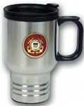 US Coast Guard Stainless Steel Travel Mug With No-Spill Lid (14 Ounces)