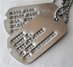 VIEW Pre-1964 Notched Dog Tags