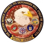 VIEW Fallen Heroes Back Patch