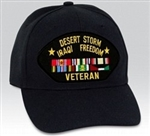Desert Storm - Iraqi Freedom Veteran BALL CAP or PATCH
