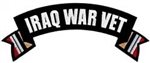 Iraq War Vet Rocker Back Patch