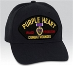 Iraqi Freedom Purple Heart Combat Wounded BALL CAP or PATCH