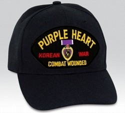 VIEW Korean War Purple Heart Combat Wounded Ball Cap
