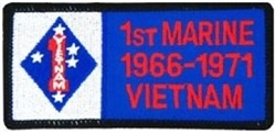 VIEW 1st Marine Division Vietnam Patch