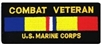 Combat Veteran US Marine Corps Patch